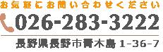 長野県長野市青木島1-36-7 026-238-3222