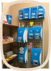 長野市青木島にあるあおきじま整骨院の販売コーナー